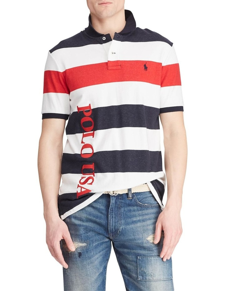 Classic Fit Striped Terry Polo image 1
