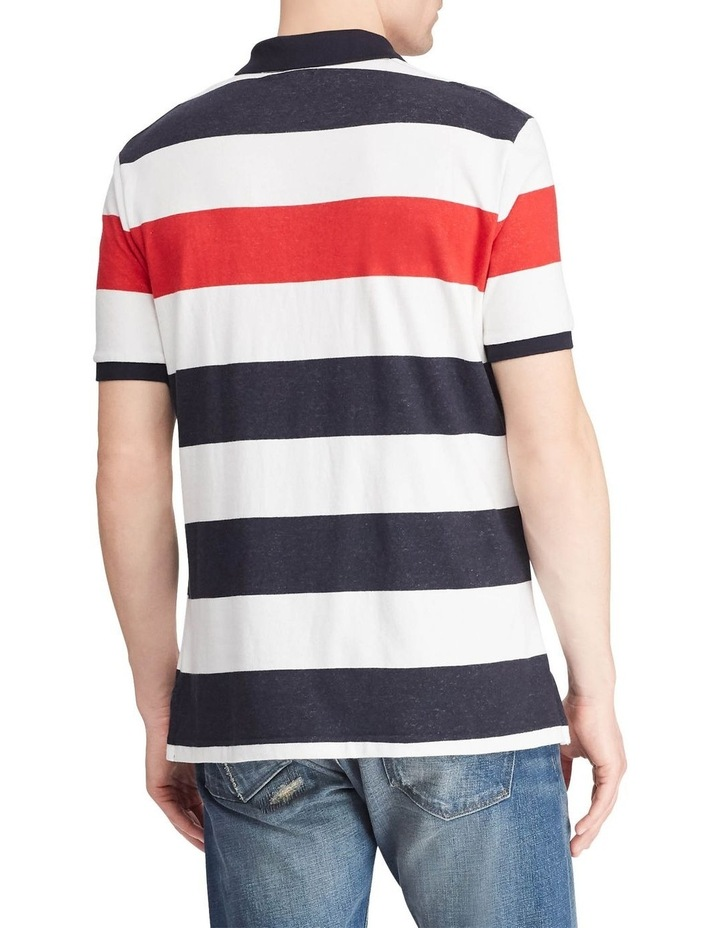 Classic Fit Striped Terry Polo image 2