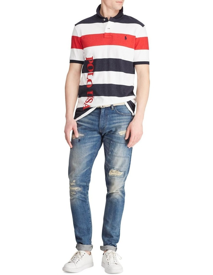 Classic Fit Striped Terry Polo image 3
