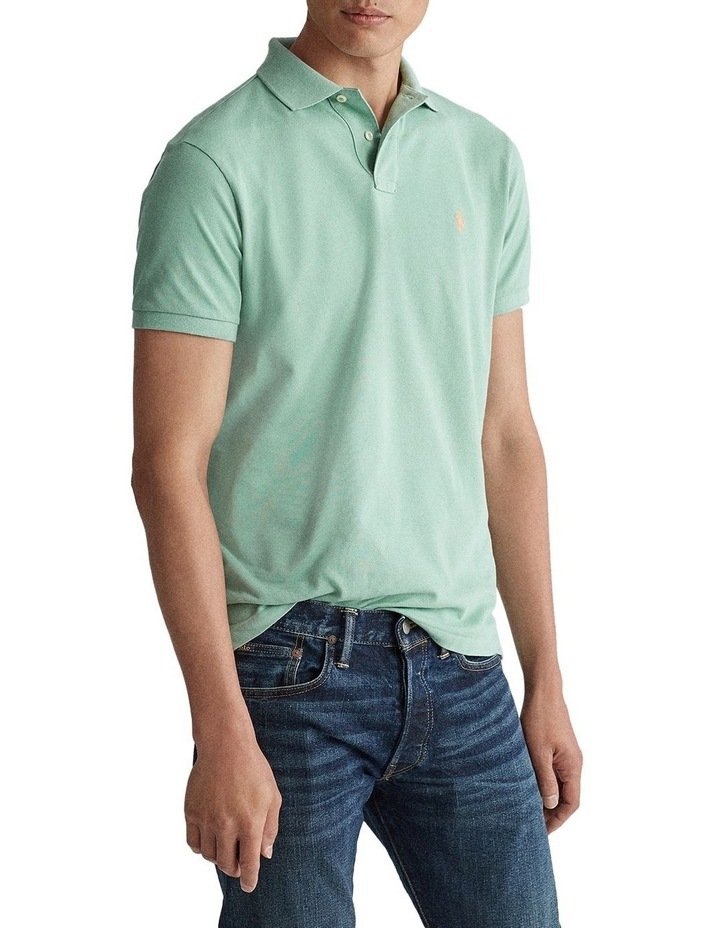 Custom Slim Fit Mesh Polo image 1
