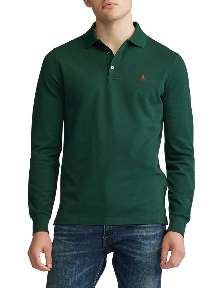 Custom Slim Long-Sleeve Polo image 1