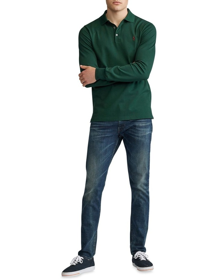Custom Slim Long-Sleeve Polo image 3
