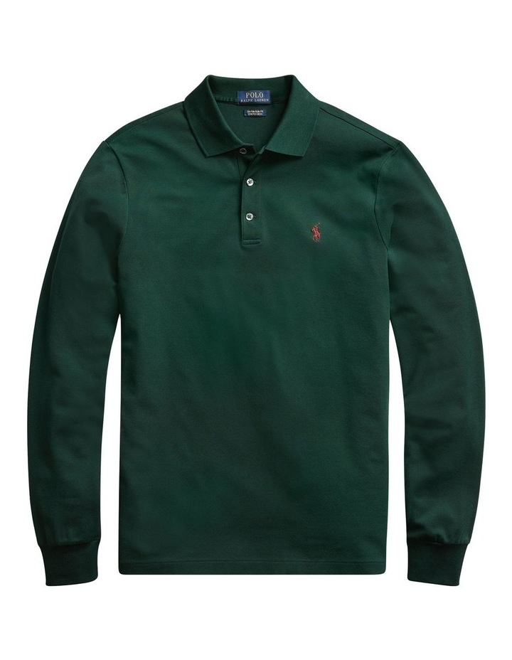 Custom Slim Long-Sleeve Polo image 4