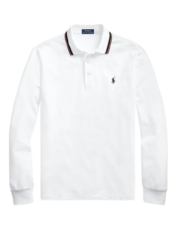 Custom Slim Long-Sleeve Polo image 4