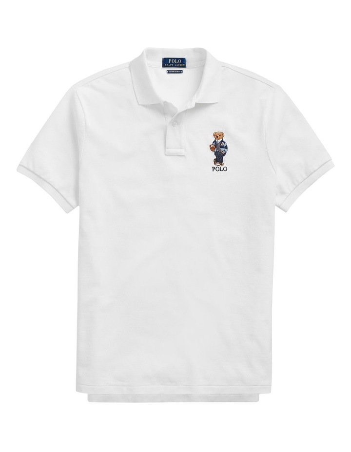 Custom Slim Fit Bear Mesh Polo image 4