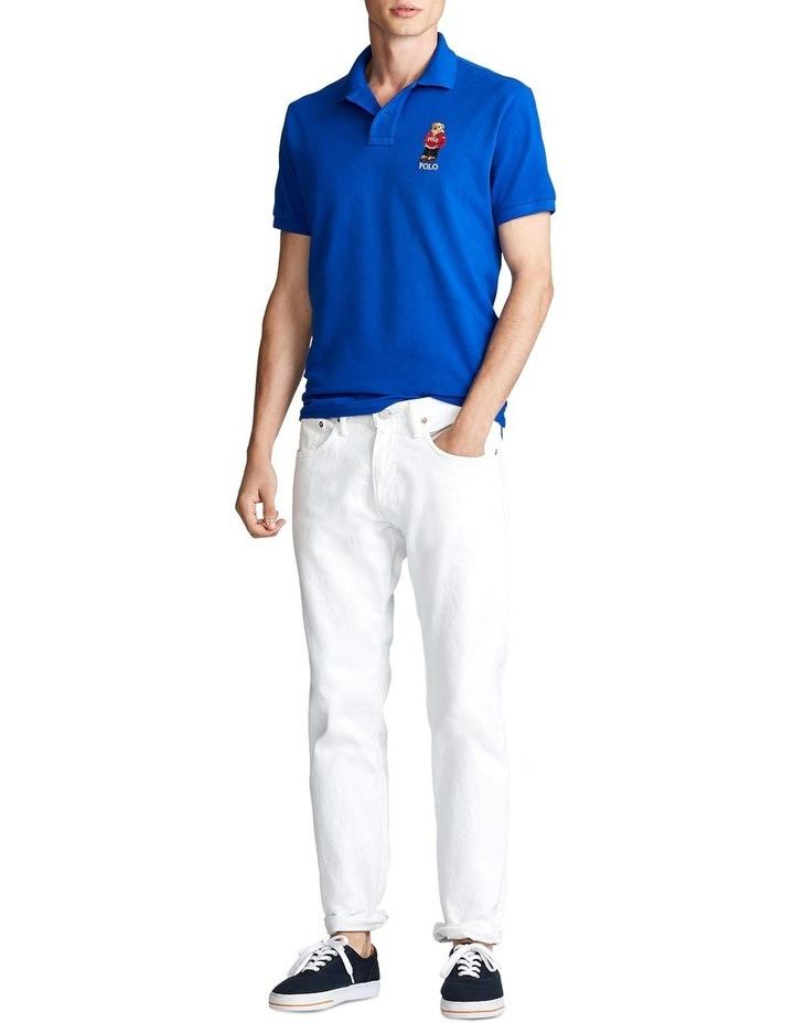 Custom Slim Fit Bear Mesh Polo image 3