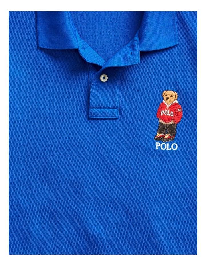 Custom Slim Fit Bear Mesh Polo image 5