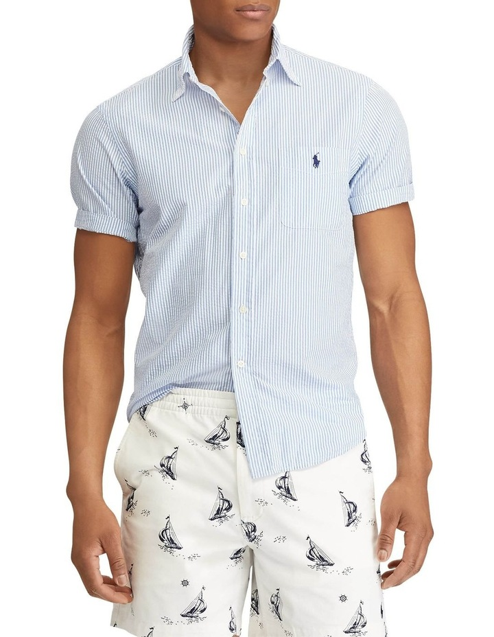Classic Fit Seersucker Short Sleeve Shirt image 1