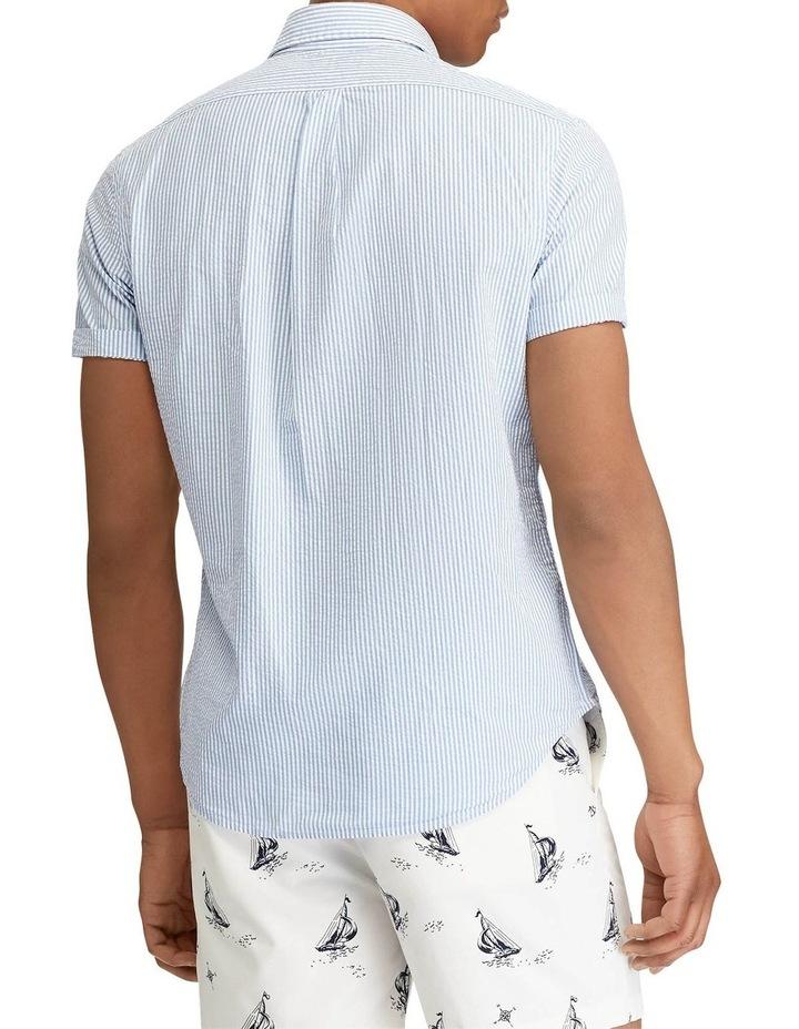 Classic Fit Seersucker Short Sleeve Shirt image 2