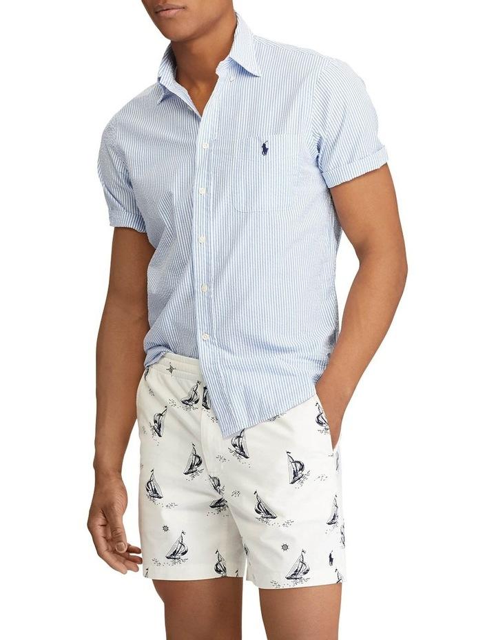 Classic Fit Seersucker Short Sleeve Shirt image 3