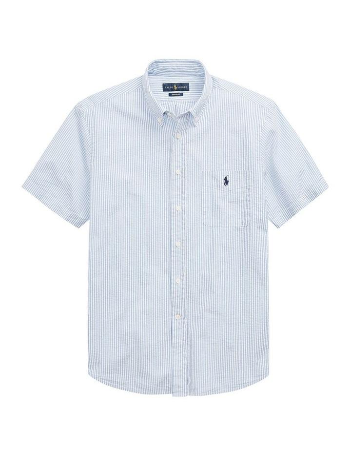Classic Fit Seersucker Short Sleeve Shirt image 4