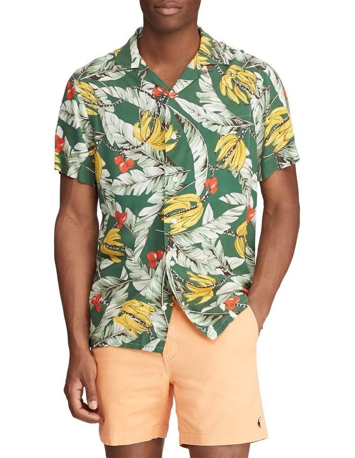 Classic Fit Banana-Print Short Sleeve Shirt image 1