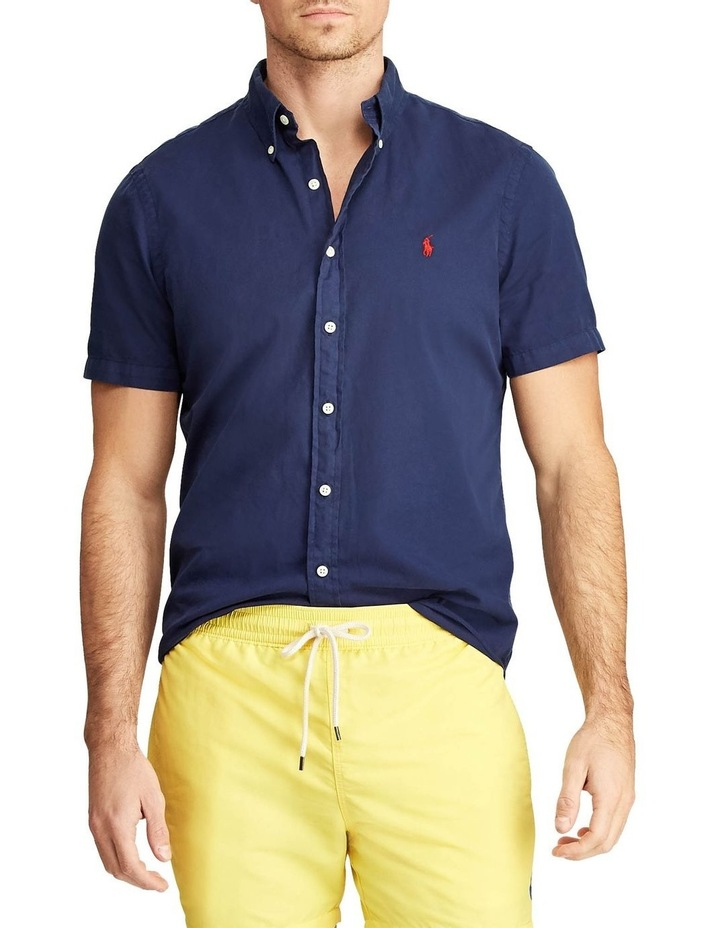 Classic Fit Twill Short Sleeve Shirt image 1