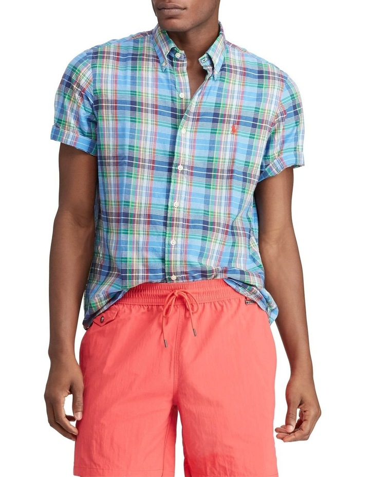 Classic Fit Madras Short Sleeve Shirt image 1