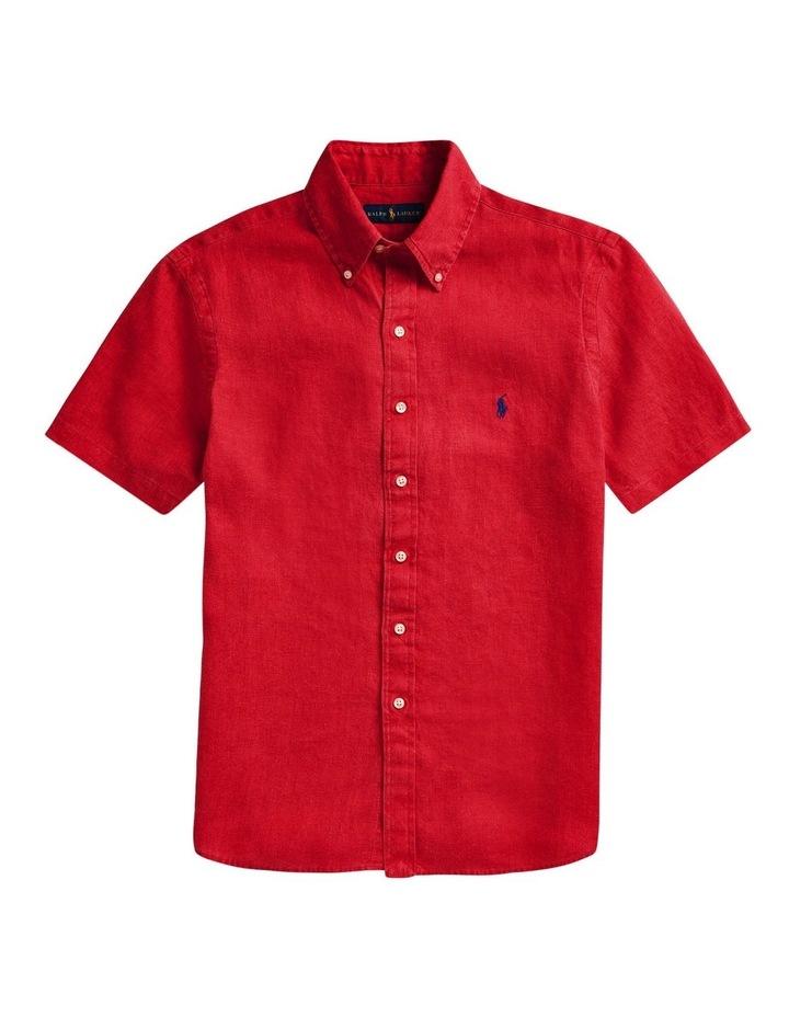 Classic Fit Linen Short Sleeve Shirt image 4
