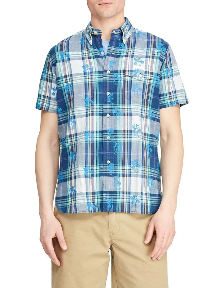 Custom Fit Madras Short Sleeve Shirt image 1