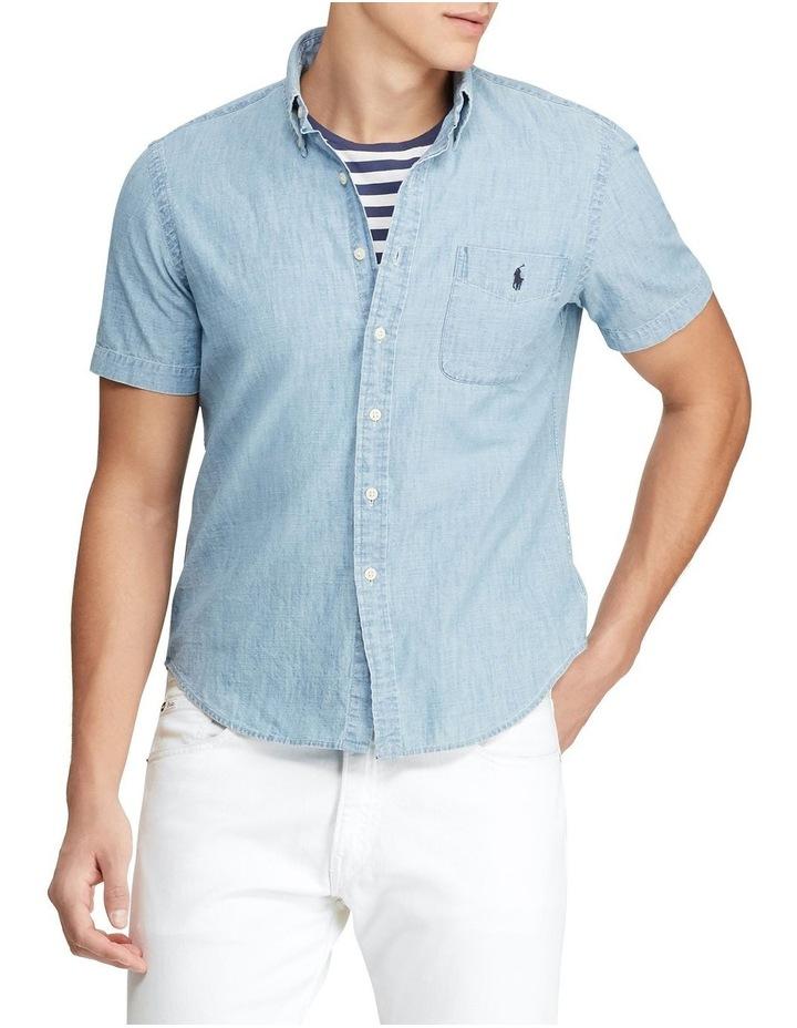 Custom Fit Chambray Short Sleeve Shirt image 1