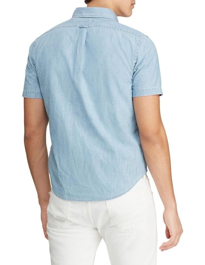 Custom Fit Chambray Short Sleeve Shirt image 2