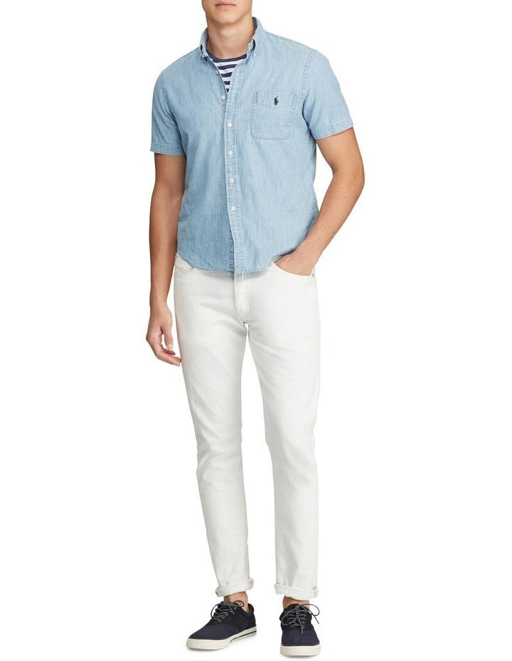 Custom Fit Chambray Short Sleeve Shirt image 3