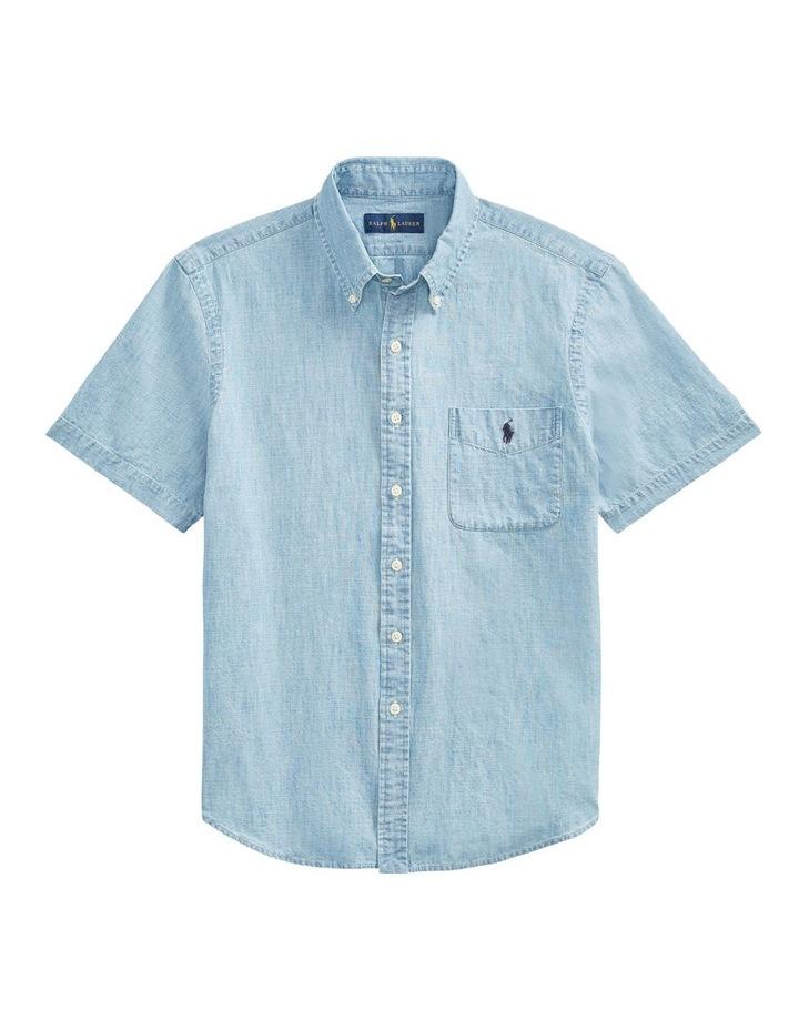 Custom Fit Chambray Short Sleeve Shirt image 4