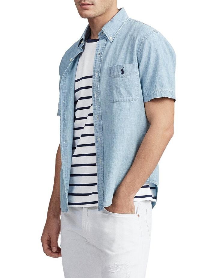 Custom Fit Chambray Short Sleeve Shirt image 5