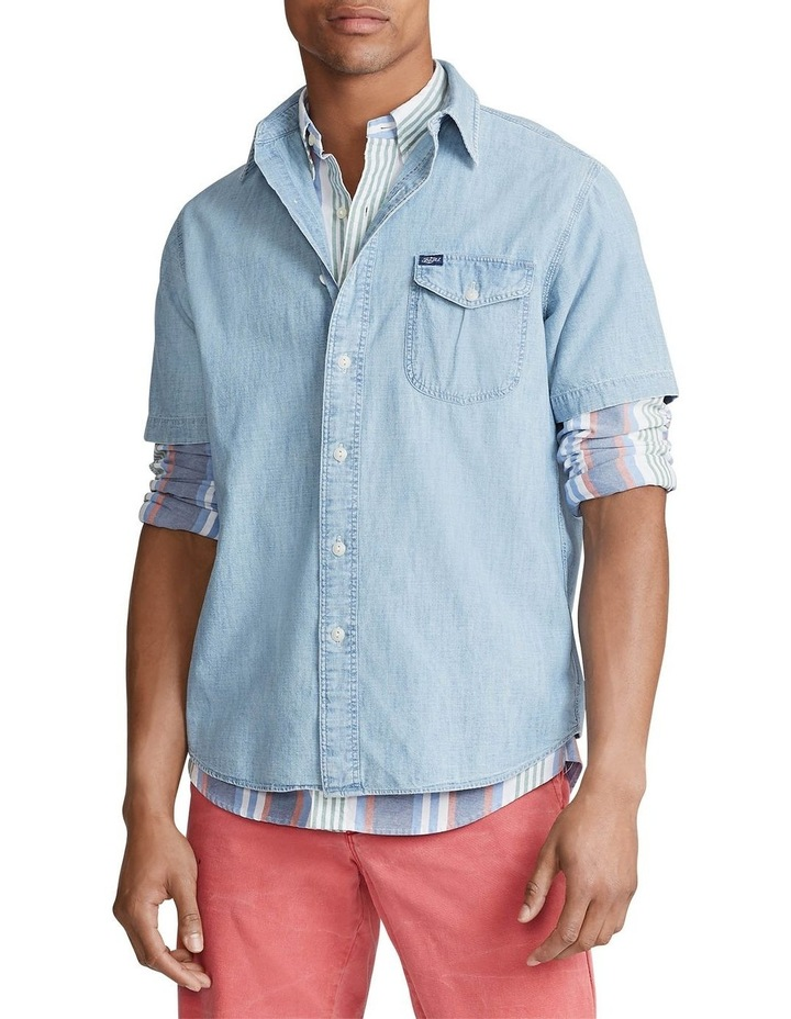 Sportsman Chambray Short Sleeve Shirt image 1