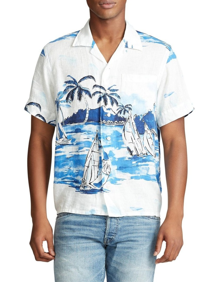 Classic Fit Sailboat Short Sleeve Shirt image 1