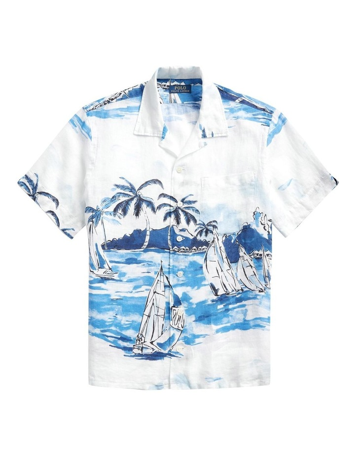 Classic Fit Sailboat Short Sleeve Shirt image 4