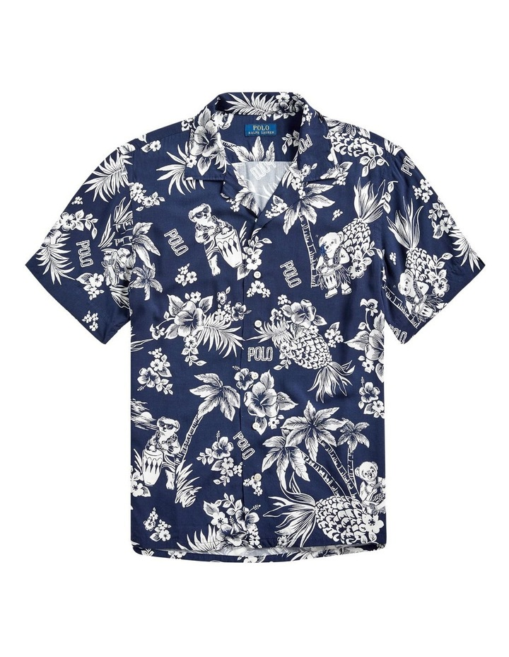 Custom Fit Tropical Bear Short Sleeve Shirt image 4