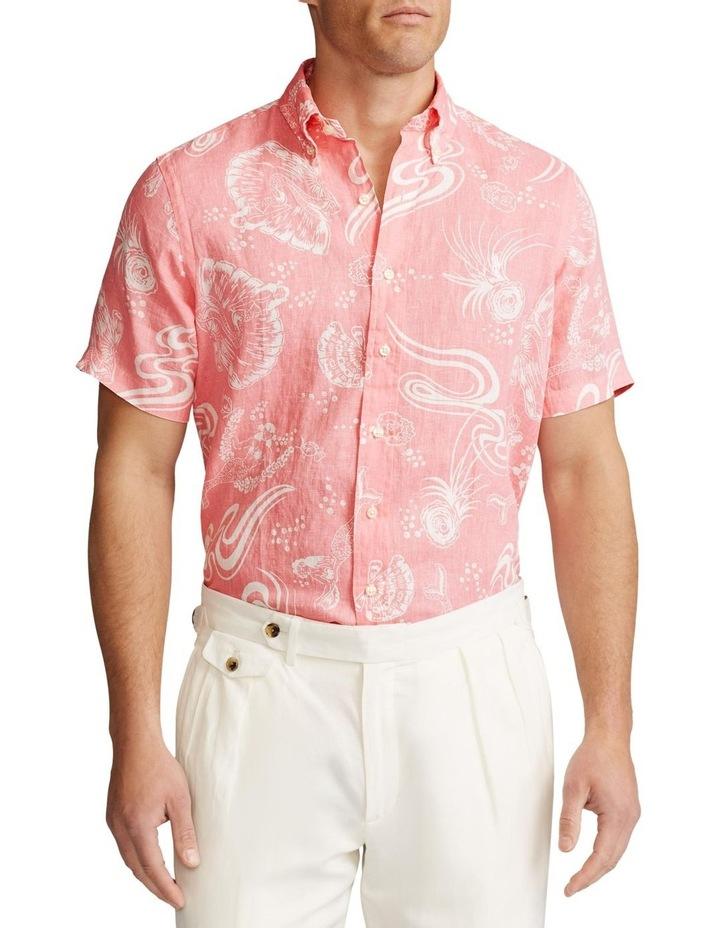 Classic Fit Linen Short Sleeve Shirt image 1