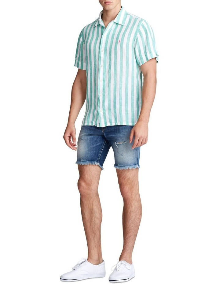 Classic Fit Striped Short Sleeve Shirt image 3