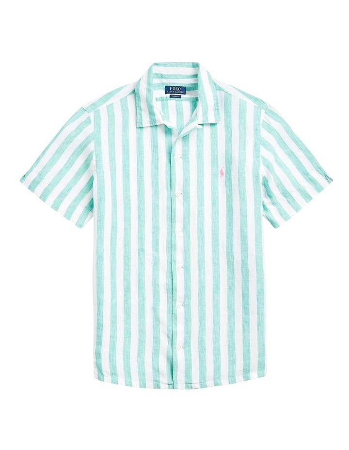 Classic Fit Striped Short Sleeve Shirt image 4