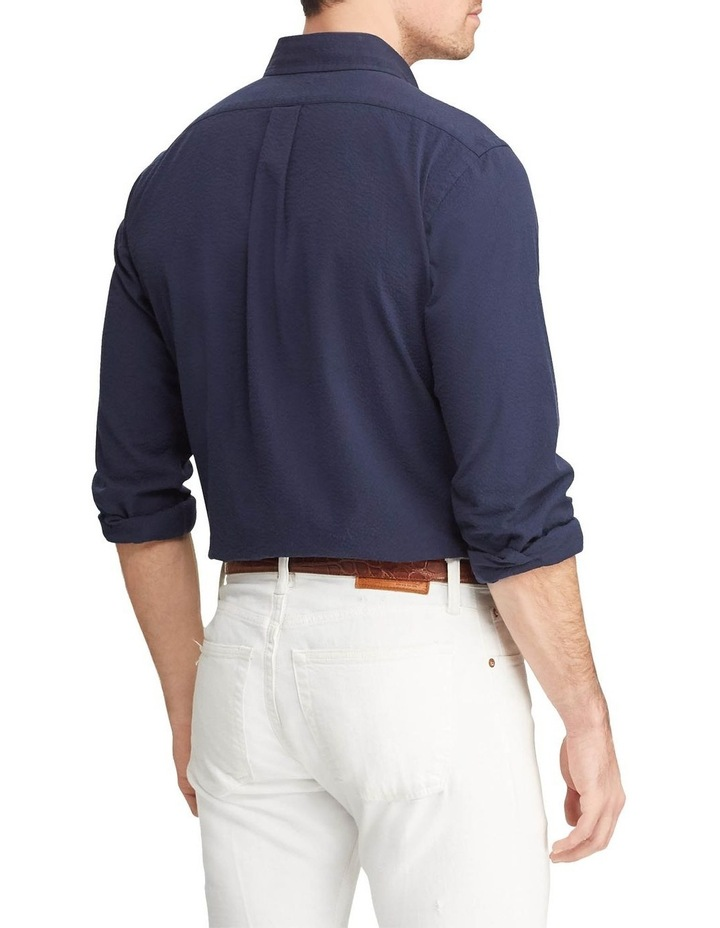 Classic Fit Seersucker Long Sleeve Shirt image 2