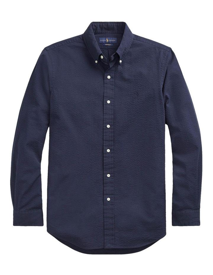 Classic Fit Seersucker Long Sleeve Shirt image 4