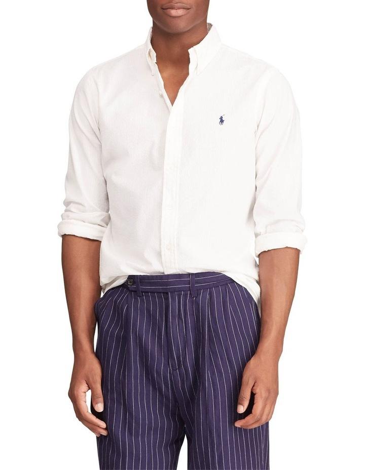 Polo Ralph Lauren Classic Fit Seersucker Long Sleeve Shirt Myer