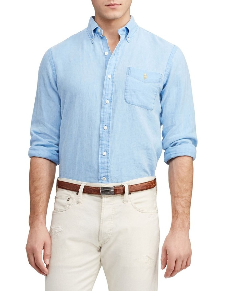 Classic Fit Linen Long Sleeve Shirt image 1