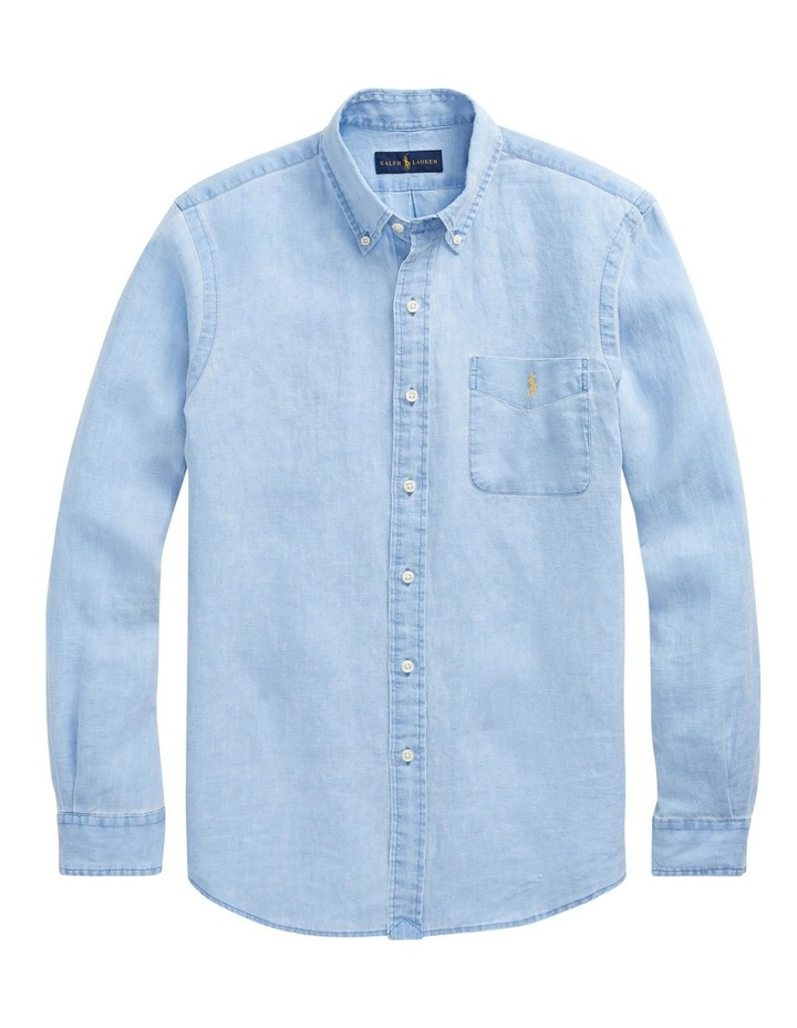 Classic Fit Linen Long Sleeve Shirt image 4