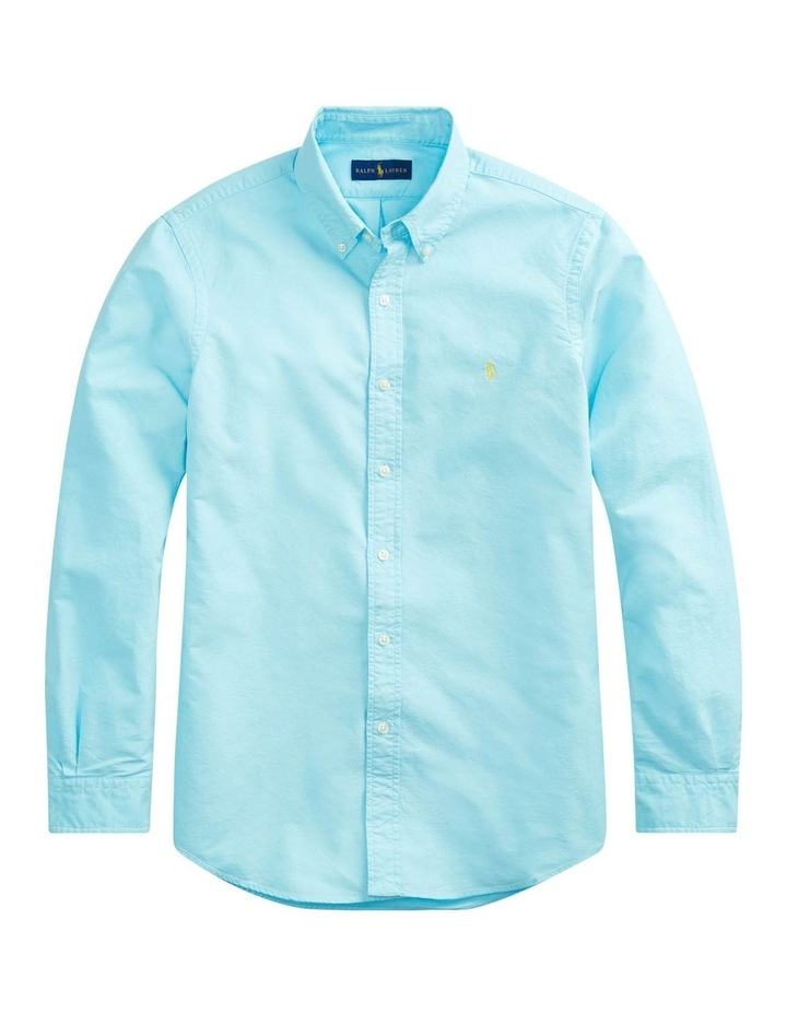 Garment-Dyed Oxford Long Sleeve Shirt image 4