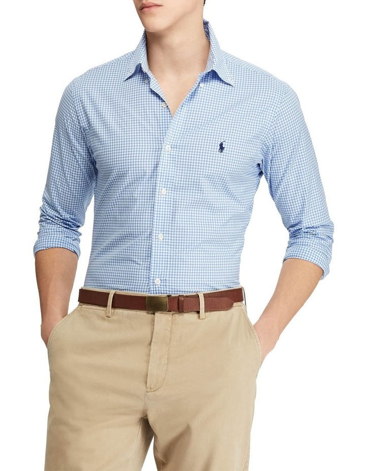 Slim Fit Checked Poplin Long Sleeve Shirt image 1