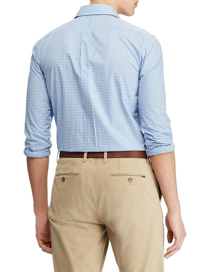 Slim Fit Checked Poplin Long Sleeve Shirt image 2