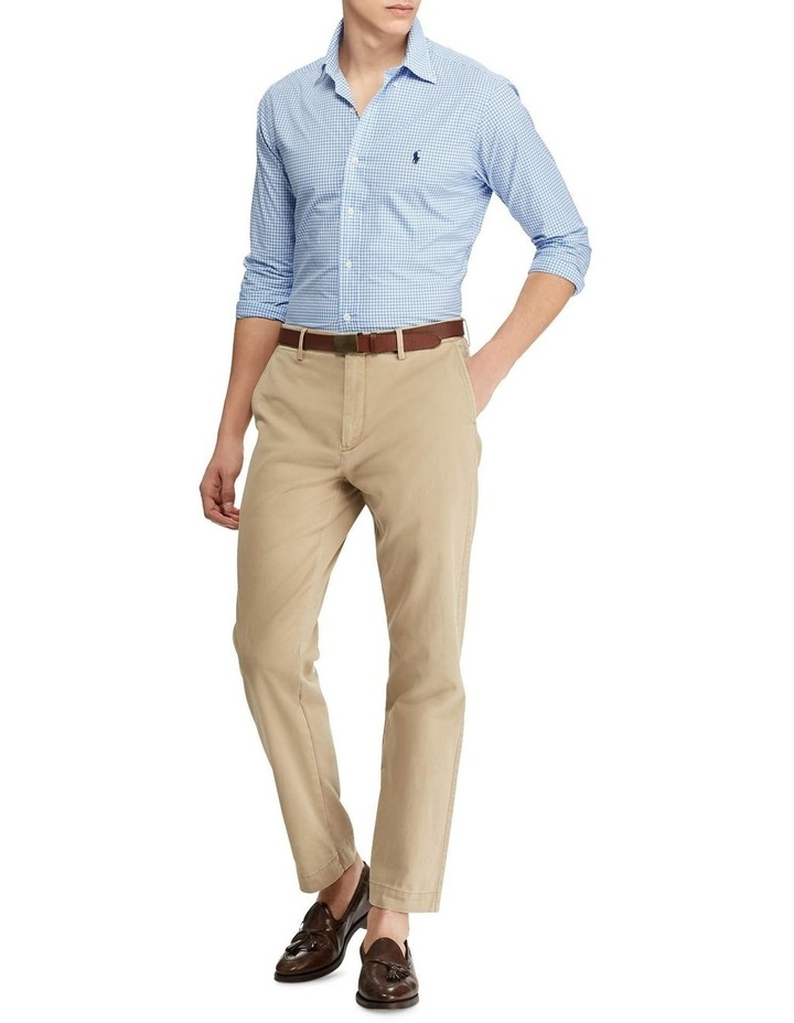 Slim Fit Checked Poplin Long Sleeve Shirt image 3
