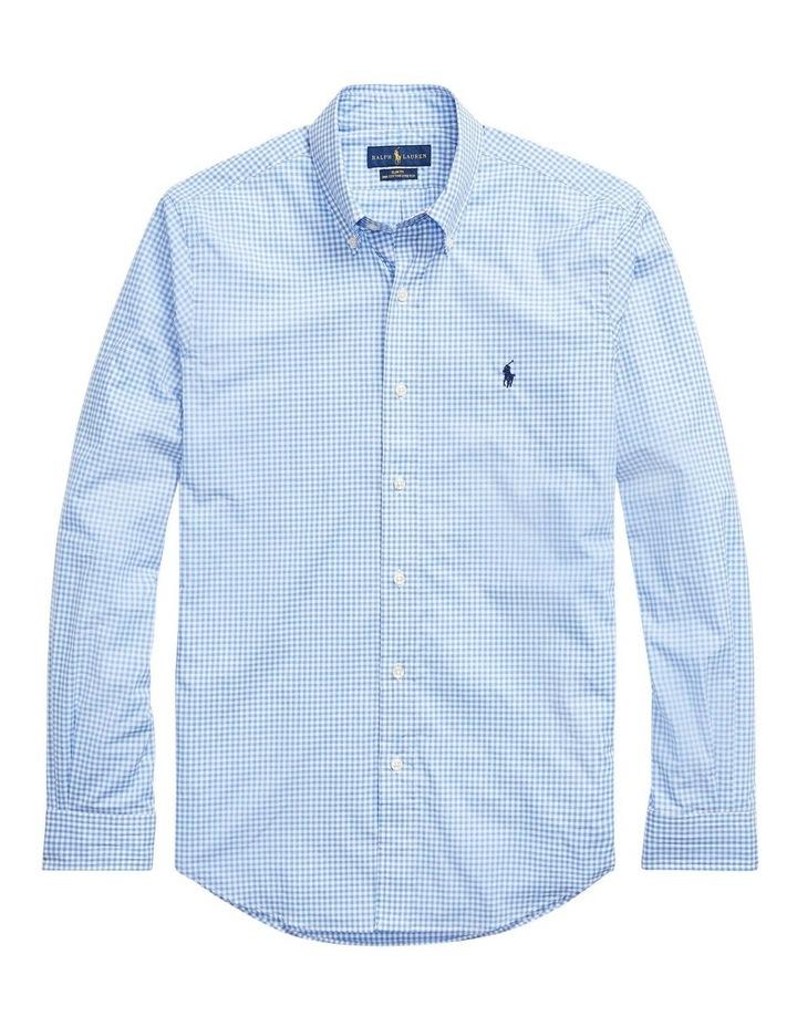 Slim Fit Checked Poplin Long Sleeve Shirt image 4