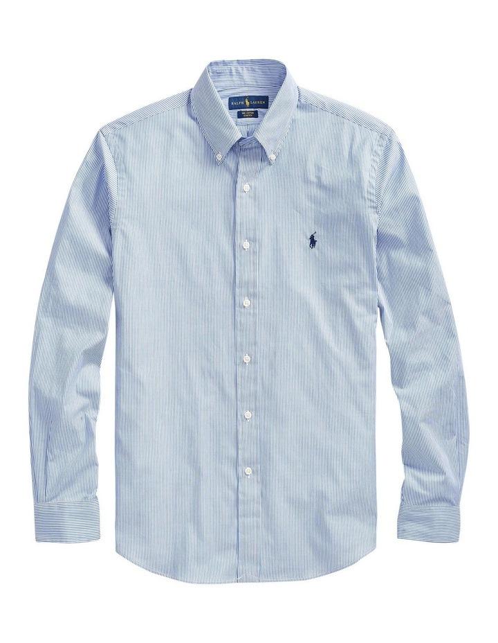 Slim Fit Striped Poplin Long Sleeve Shirt image 4