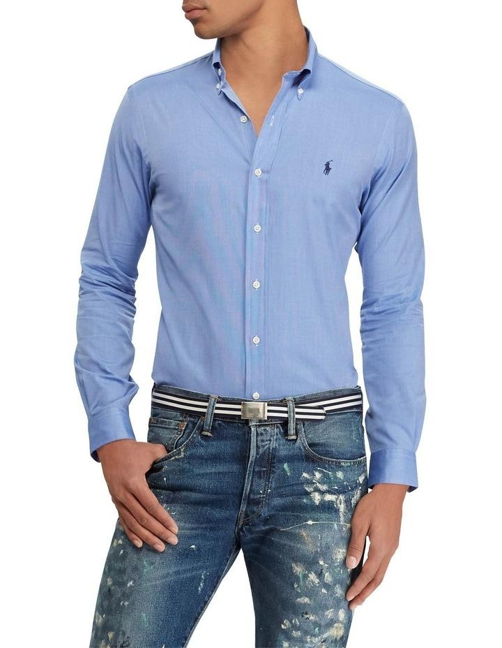 Slim Fit Poplin Long Sleeve Shirt image 1