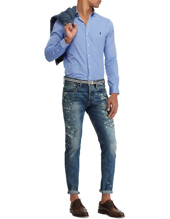 Slim Fit Poplin Long Sleeve Shirt image 3