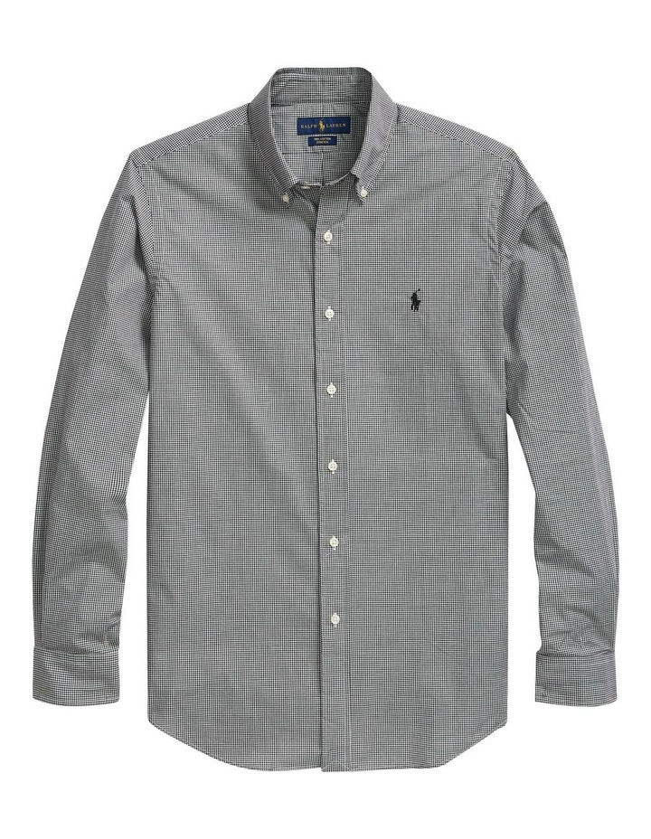 Slim Fit Checked Poplin Long Sleeve Shirt image 4