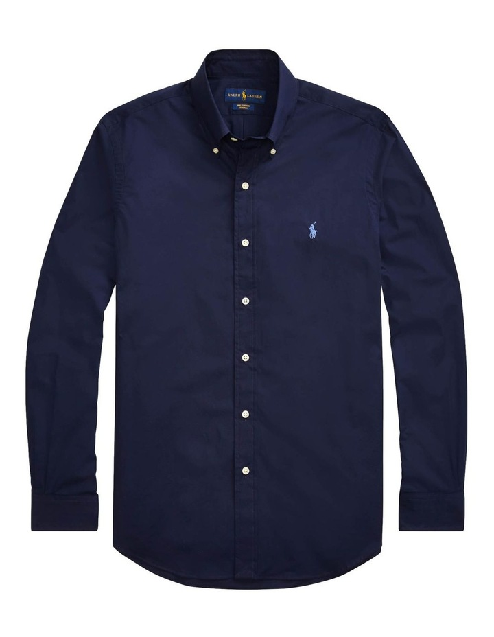 Slim Fit Poplin Long Sleeve Shirt image 4