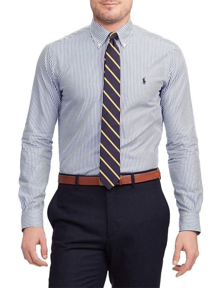 Slim Fit Striped Poplin Long Sleeve Shirt image 1