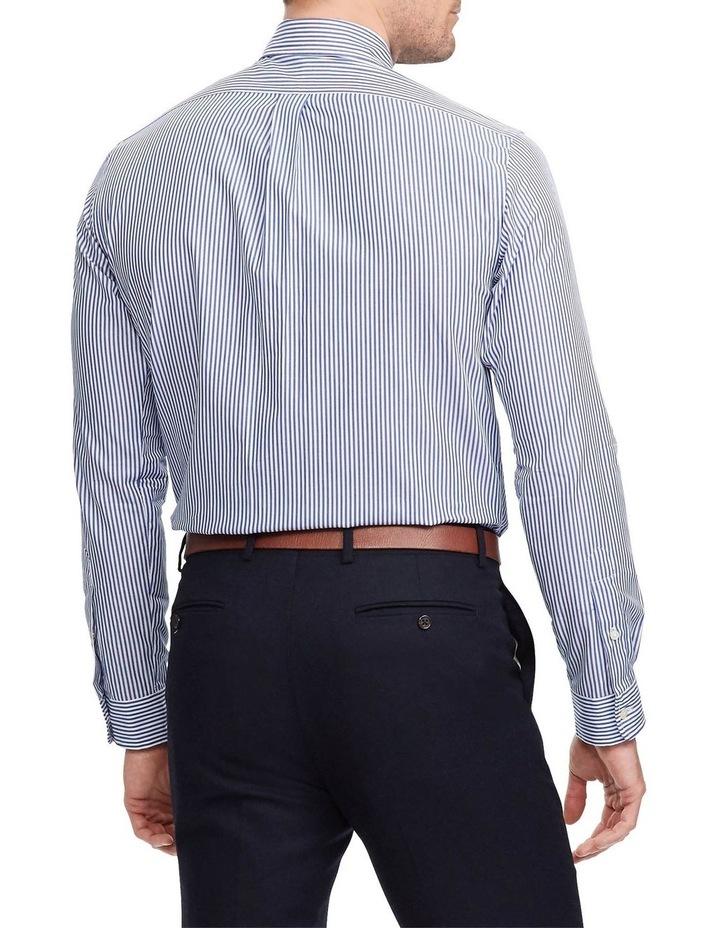 Slim Fit Striped Poplin Long Sleeve Shirt image 2