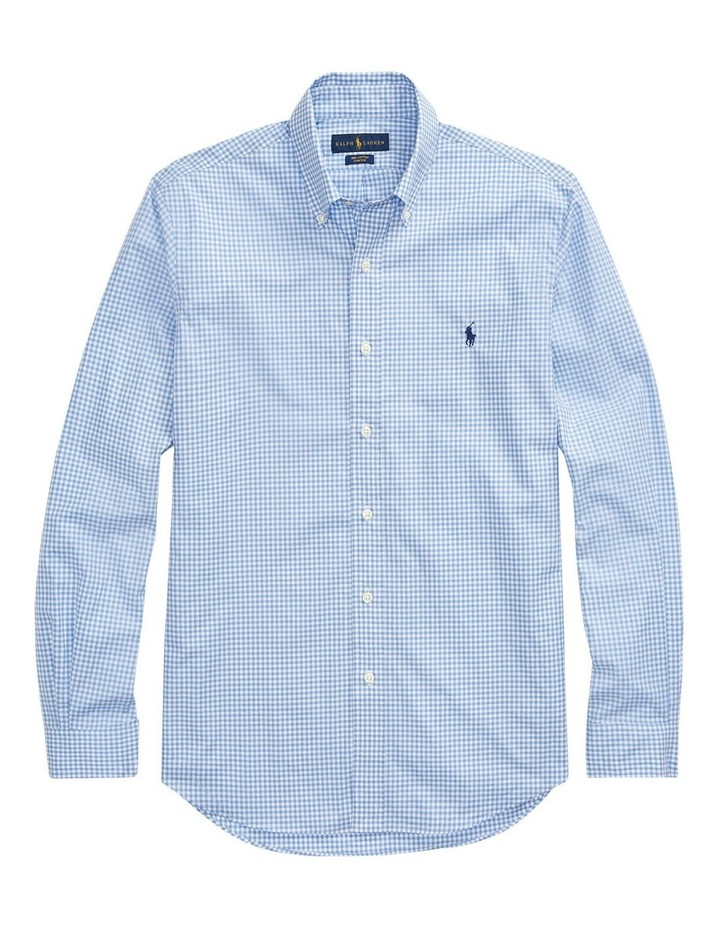 Classic Fit Checked Long Sleeve Shirt image 4